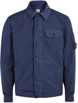 C.p. Company Chrome Dark Blue Shell Overshirt