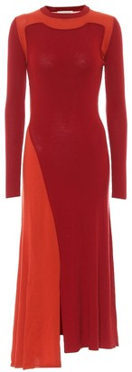 Alexander McQueen Wool and cashmere midi dress