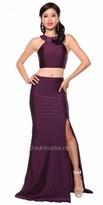 Atria Keyhole Back Two Piece Prom Dress
