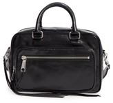 Rebecca Minkoff Solstice Leather Crossbody Duffel Bag - Black