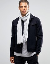 Calvin Klein City Grid Logo Cotton Scarf