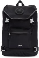 Versus Black Nylon Buckled Backpack