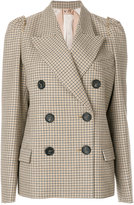 No.21 double breasted checked jacket