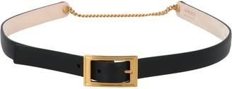 Versace Virtus Skinny Buckle Belt