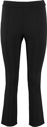 Tory Burch Ponte Flared Hem Cropped Trousers