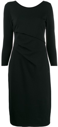 Giorgio Armani slim-fit midi dress
