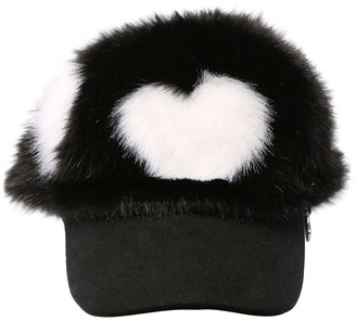 MonnaLisa Herat Print Faux Fur Hat