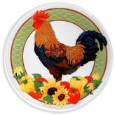 """Peggy Karr Glass Country Rooster 11"""""""