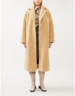 STAND Maria teddy faux-fur coat