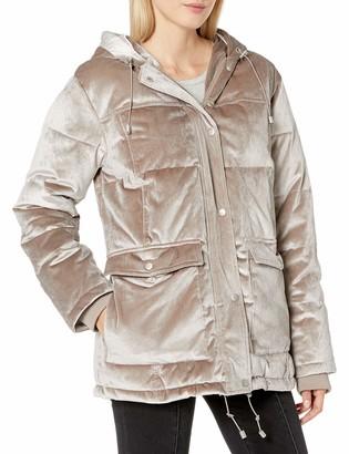 AVEC LES FILLES Women's Velvet Oversized Down Puffer Coat