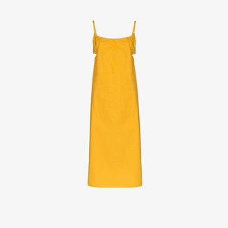 Araks Yeraz Side Cutout Cotton Midi Dress