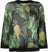 Twin-Set Twin Set pineapple print open knit jumper