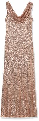 Cachet Women's Sequin Cowl Neck Gown