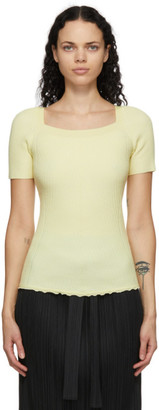 3.1 Phillip Lim Yellow Merino Rib Knit T-Shirt