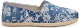 Toms Floral Printed Blue Suede Women's Espadrilles