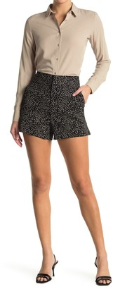 Alice + Olivia Cady Dotted High Waisted Shorts