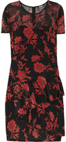 Jocelyn printed stretch silk crepe de chine dress