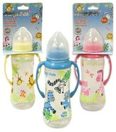 8oz Plastic Jungle Pals Baby Bottle with Handles