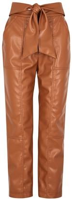 Jonathan Simkhai Brown faux leather trousers