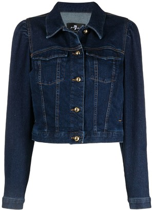 7 For All Mankind Cropped Denim Jacket