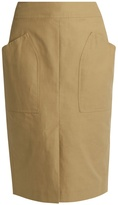 Isabel Marant Stanton patch-pocket cotton-blend skirt