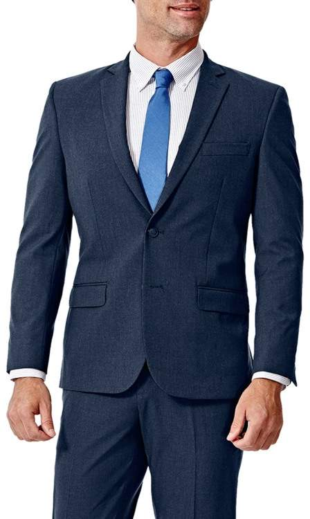 Haggar Gabardine 4-Way Stretch Slim Fit 2-Button Suit Separate Coat