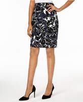 Kasper Printed Pencil Skirt, Regular & Petite
