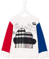 Burberry fringed cloud patch sweatshirt