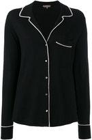 N.Peal contrast trim pyjama top - women - Silk/Cashmere - L