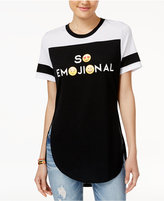 Freeze 24-7 Juniors' So Emojional Graphic Tunic T-Shirt