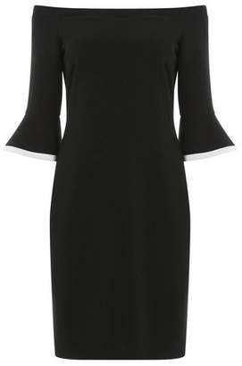 Dorothy Perkins Womens *Roman Originals Black Flute Sleeve Bardot Dress, Black
