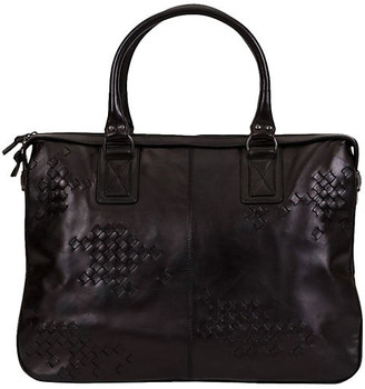 One Kings Lane Vintage Bottega Veneta Black Handbag - Vintage Lux