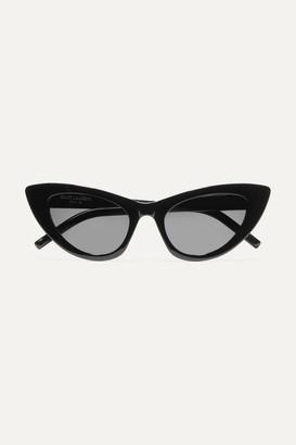 Saint Laurent Lily Cat-eye Acetate Sunglasses - Black