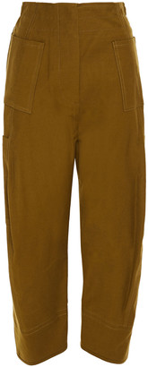 LVIR Cropped Cotton-blend Twill Tapered Pants