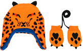 Paul Smith animal print hat and mittens