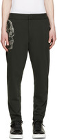 Alexander McQueen Green Side Skull Lounge Pants