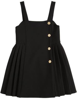 Versace Cady Dress W/ Decorative Buttons