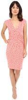 Adrianna Papell Print Extended Shoulder Bird Jersey Dress