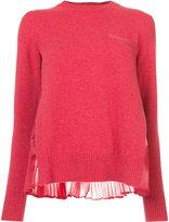 Sacai plissé rear pleat sweater
