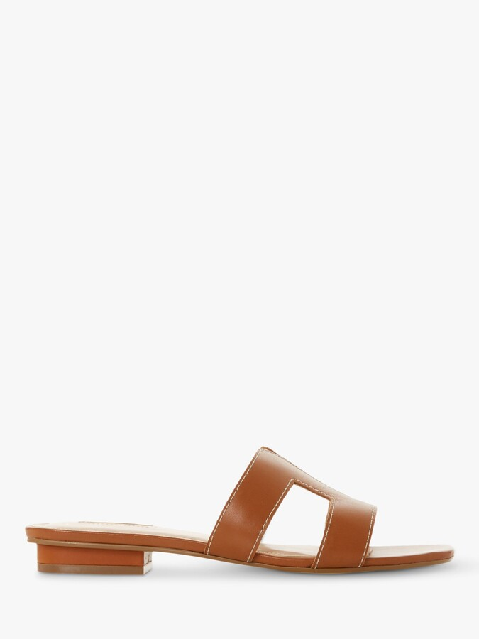 Dune Loupe Wide Fit Flat Slider Sandals