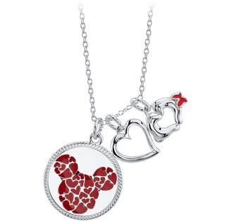 Disney Mickey Mouse Heart Multi-Pendant Necklace
