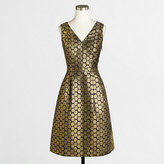 J.Crew Factory Metallic dot jacquard V-neck dress