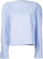Dion Lee striped poplin shirt - women - Polyester - 6