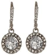 Betsey Johnson CZ Drop Earrings (Crystal) Earring