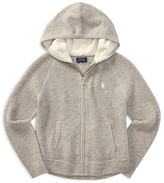 Ralph Lauren Girls' Wool-Blend Zip-Up Hoodie - Big Kid