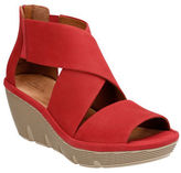 Clarks Clarene Glamor Leather Wedge Sandals