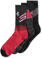 Under Armour Men's 3 Pack HeatGear Socks