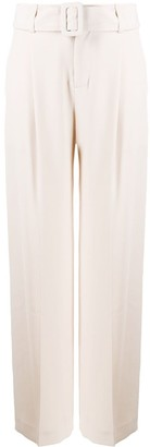 Vince High-Waist Belted Trousers