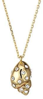 Kate Spade Women's Under The Sea Mini Goldplated and Pavé Crystal Shell Pendant Necklace
