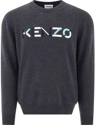 Kenzo Logo Embroidered Knitted Sweater